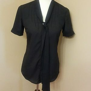 Xs short sleeve sheer The Limited black top